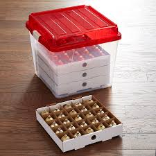 corrugated ornament storage trays the container store