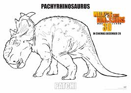 walking with dinosaur coloring pages