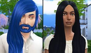 sims 4 blue hair the sims 4 cc showcase maxis match hair by david sims youtube