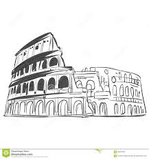 coliseum hand drawn sketch stock vector image of illustration