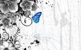 blue butterfly on the plant wallpaper digital art wallpapers