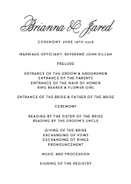 traditional wedding program wedding programs match your colors style free basic invite