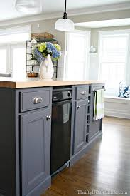 Dark Grey Kitchen Cabinets Dark Gray Kitchen Island Painted With Peppercorn From Sherwin