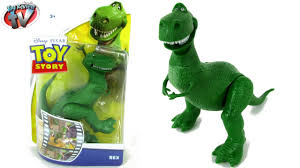 toy story rex 10cm action figure toy review mattel