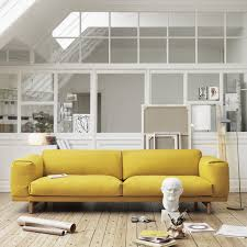 canap jaune canapé rest 2 places muuto boutique