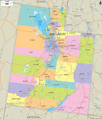 Road Map Usa by Utah Road Map