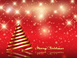 shiny christmas card with christmas tree vector free download