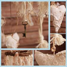 shabby chic fabric birds mobile rustic home décor u2013 boxox