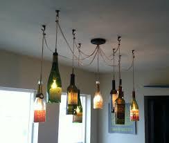 Unusual Wine Bottles Interesting Wine Bottle Light Fixtures Unique Home Decor Ideas