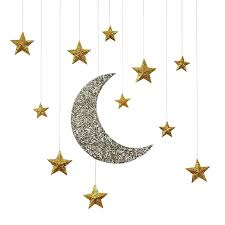 crescent moon decor best hanging ideas on paper