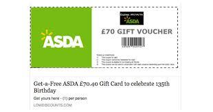 scam alert fake asda voucher giveaway by fraudsters