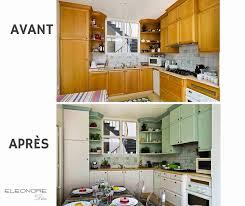 repeindre sa cuisine avant apres beau photographie 15 cuisines