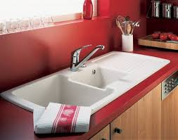 kitchen lovely red kitchen design matched with bright white