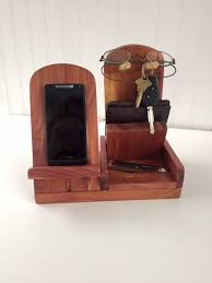 Woodworking Plans Desk Caddy by Woodcrafted Cell Phone Docking Stand Watch Wallet Glasses