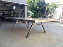 Table Tennis Meeting Table Diy Concrete Ping Pong Table Home Design Ideas And Pictures