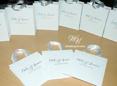 personalized wedding welcome bags wedding welcome bags with satin ribbon and custom personalized tag