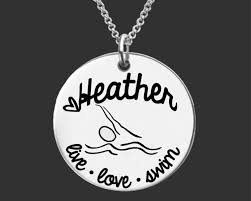 personalized granddaughter gifts swim necklace swim jewelry gift gifts