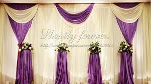 wedding backdrop buy pretty elegeant white purple 6m width x3m height wedding backdrop