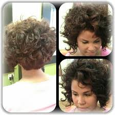 stacked shortbhair for over 50 curly stacked bob curly bob with straight bangs yes hair