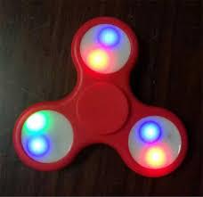 a light up fidget spinner led light hand spinner light up bright fidget spinner spiral abs