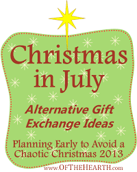 christmas in july alternative gift exchange ideas alternative