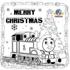 train hat coloring page kids printable thomas pictures santa hat merry christmas coloring