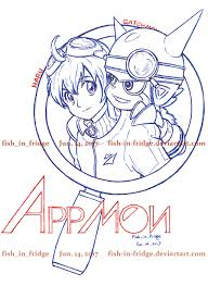 appmon haru and gatchmon by fish in fridge on deviantart