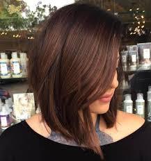 red brown long angled bobs 60 inspiring long bob hairstyles and lob haircuts 2018