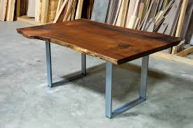 wood slab table legs portfolio tags walnut corey morgan
