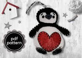 Felt Penguin Christmas Ornament Patterns - penguin pattern felt pattern felt christmas ornament