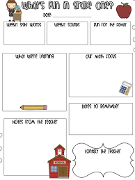 10 best images of first grade classroom newsletter template