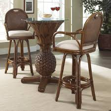 fascinating white brown colors wooden kitchen pub table chairs