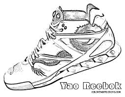 jordan shoe coloring sheet coloring for kids pinterest