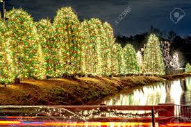 Outdoor Xmas Decorations by Outdoor Christmas Decorations At Christmas Town Usa Stock Photo