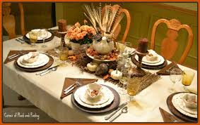 Set The Table Corner Of Plaid And Paisley Thanksgiving Table Not The Only Tom