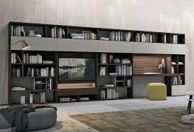 bureau bibliothèque intégré bibliothèque bureau intégré design élégant meuble bibliotheque