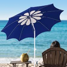 Beach Shade Umbrella Ammsun 2017 7ft Beach Patio Heavy Duty Umbrella Beach Umbrellas