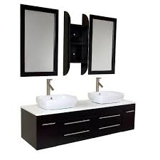 fresca bellezza 59 in double vanity in natural wood with marble