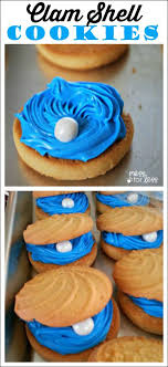 seashell shaped cookies clam shell cookies mess for less