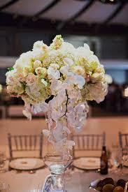 Orchid Centerpieces Hydrangea Rose And Orchid Centerpiece Elizabeth Anne Designs