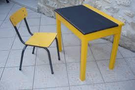 le de bureau jaune bureau jaune plateau noir ardoise photo de vendu atelier