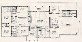 4 bedroom ranch floor plans ranch house plan with 4 bedrooms and 2 5 baths plan 3055