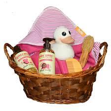 Bath Gift Basket Baby Bath Gift Basket For Organic Bathtime Newborn Baskets