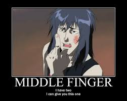 Middle Finger Meme Gif - middle finger by blackfardilhahayato meme center