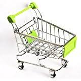 mini shopping cart trolley for desktop decoration