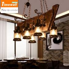Wood Chandelier Loft Retro Bar Industrial Wind Country Country Solid Wood