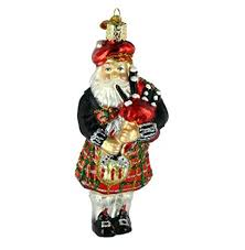world christmas world christmas highland santa glass blown