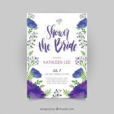 bridal shower invitation template floral bridal shower invitation template in watercolor style