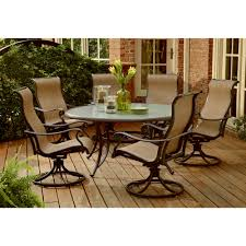 Replacement Glass Table Tops For Patio Furniture by Agio International Panorama 7 Pc Round Glass Dining Set Limited