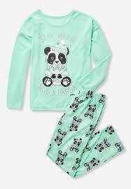 panda hug pajama set justice for 2016